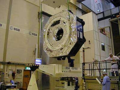 Module de service de l'observatoire Herschel – mesure des propriétés dynamiques (crédit : ESA)