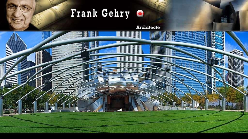 Le pavillon Jay Pritzker à Chicago, par Frank Gehry
