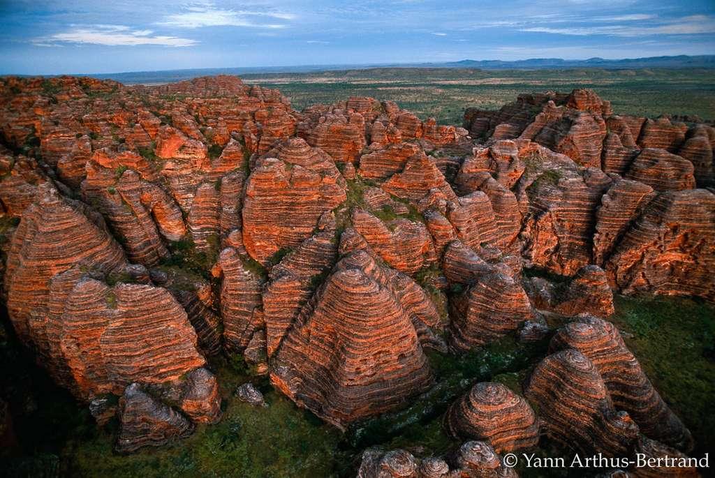 Les roches rouges du site de Purnululu
