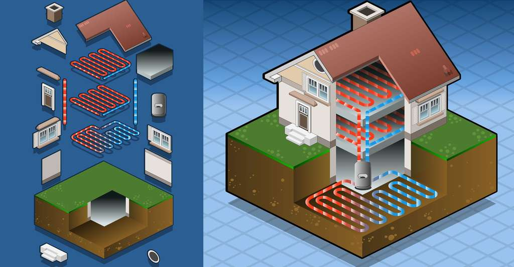 Exemple d'installation de pompe à chaleur. © Aurielaki, Shutterstock