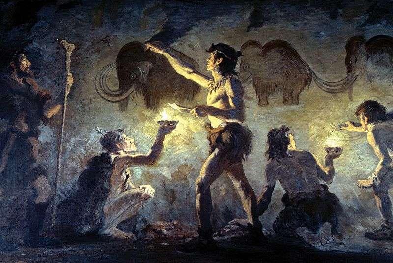 Les Hommes préhistoriques chassaient les mammouths, les plus gros mammifères auxquels ils étaient confrontés, et qui assurait à toute une tribu de nombreux repas. © Charles R. Knight, Wikipédia, DP