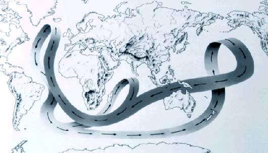 Les grands courants marins. © DR, reproduction et utilisation interdites