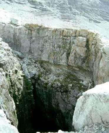 Le gouffre de la Mortice se situe dans le Briançonnais. © DR