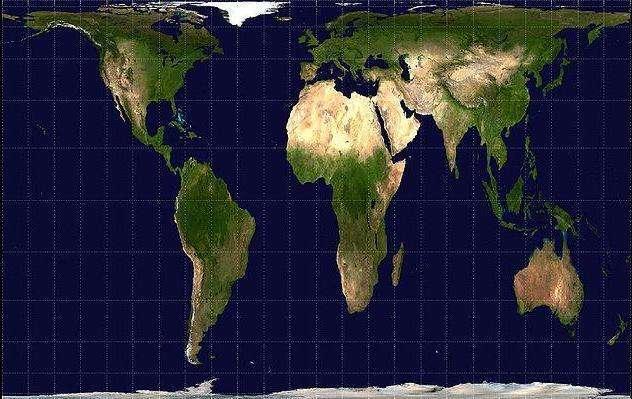 La projection de Peters de la Terre. © Penard, Wikimedia commons, DP