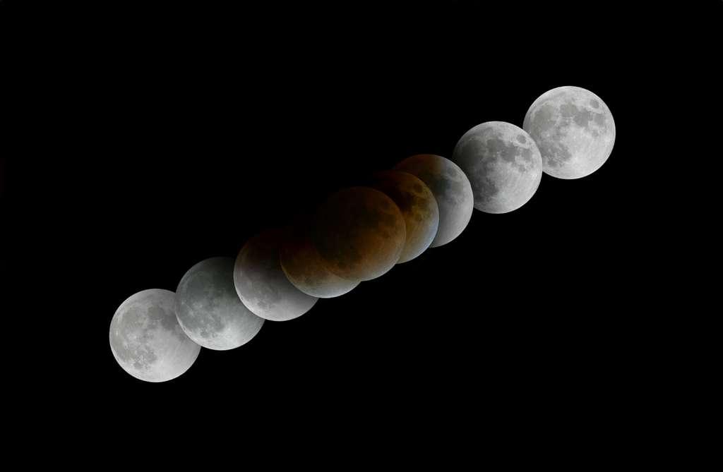 Eclipse totale de Lune du 21 février 2008 depuis Asilah (Maroc)