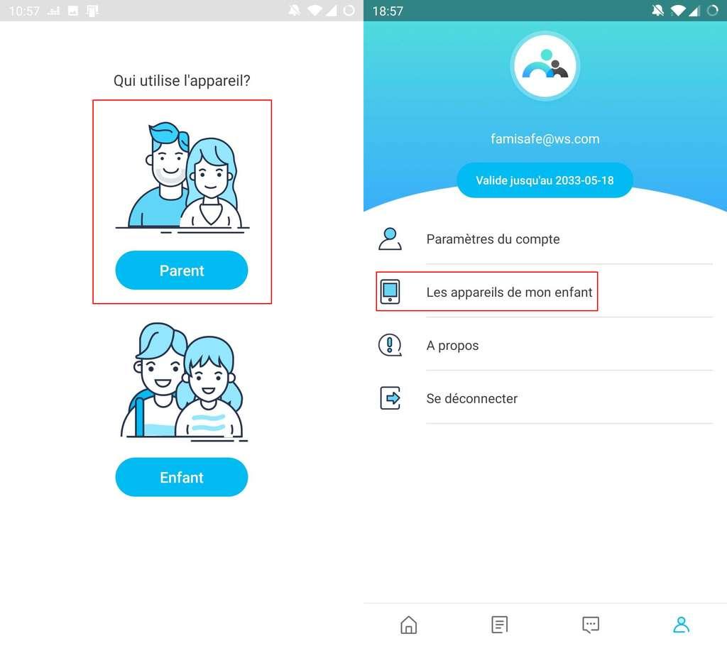 Configurez FamiSafe sur votre smartphone et connectez-vous à celui de votre ado.©Wondershare