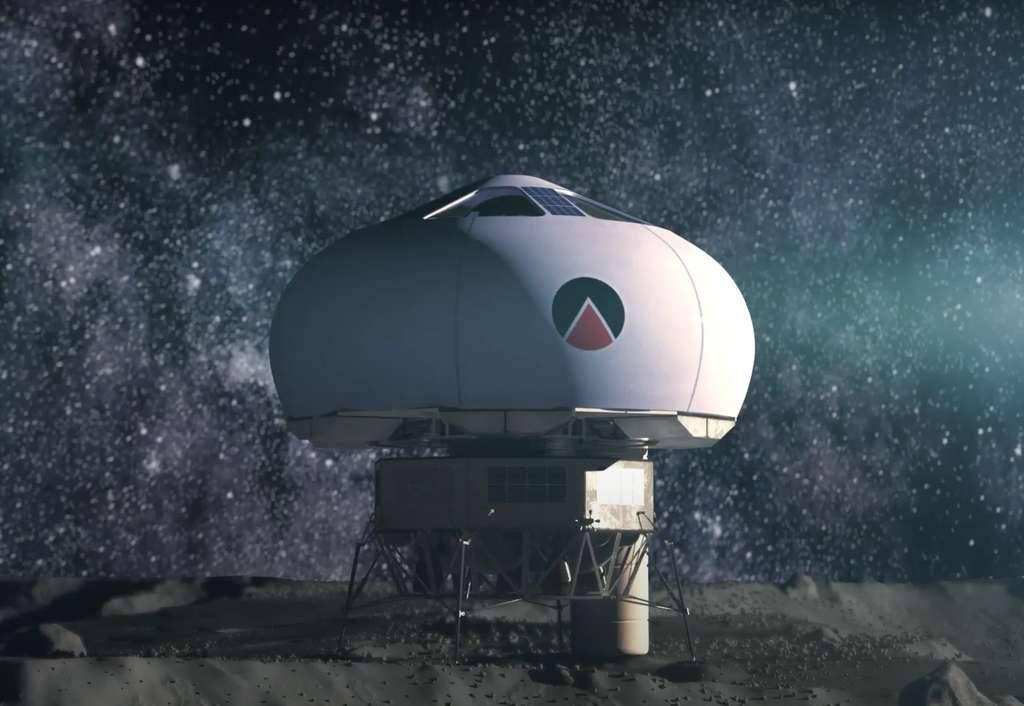 Le concept de l'Eurohab développé par Peter Weiss et Jean-Jacques Favier, cofondateurs de Spartan Space. Un prototype est visible dans le pavillon français de l'exposition universelle à Dubaï. © Spartan Space