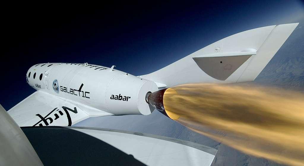Lors de son prochain vol d'essai du SpaceShipTwo de Virgin Galactic, l'avion Unity devrait voler à des vitesses record et faire fonctionner son moteur plus longtemps que lors des précédents vols. © Virgin Galactic