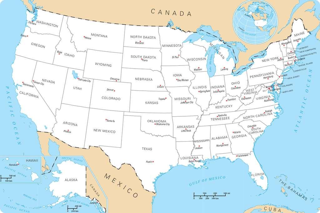 Carte Etats Unis Cote Est.Voyage Aux Etats Unis De La Cote Est A L Ouest Americain
