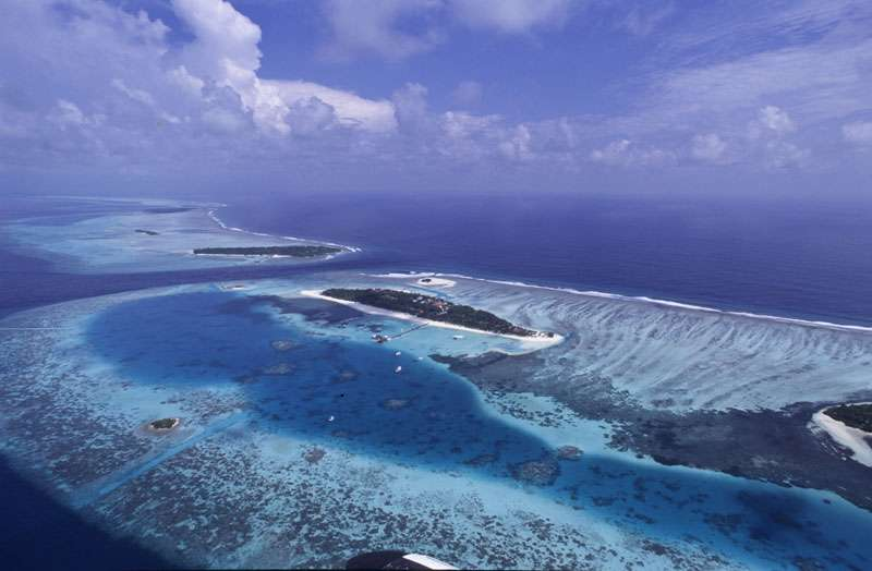 L'archipel des Maldives est très vulnérable face à la montée des eaux. © Alexis Rosenfeld, reproduction interdite