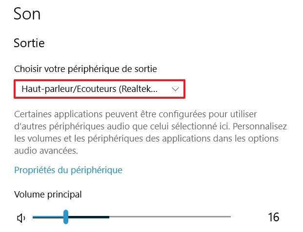 Cliquez sur le menu déroulant. © Microsoft