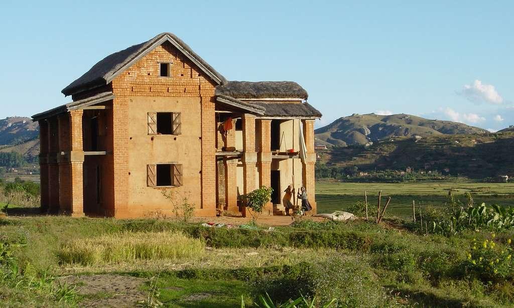 Maison de briques traditionnelle, Madagascar