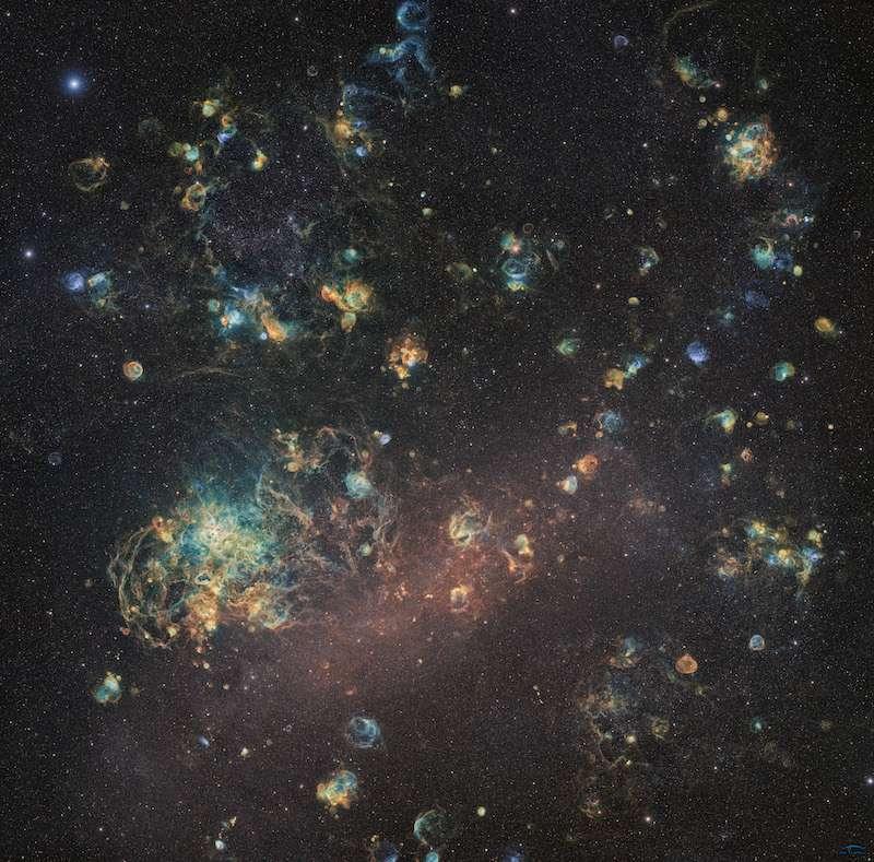 Plus de 1.000 heures pour obtenir cette superbe photo de Magellan. © Ciel Austral