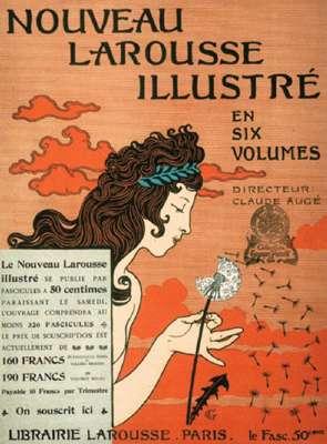 Fig. 3. « Je sème à tout vent ». Due à Eugène Grasset, cette image du dictionnaire Larousse a fêté ses 120 ans. Elle montre le transport par le vent des fruits secs de pissenlit, ou akènes, surmontés de leur aigrette. © DR