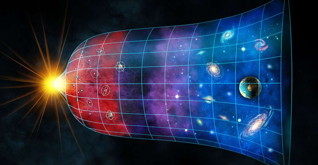 L'expansion de l'Univers du Big Bang à nos jours. © Andrea Danti, Shutterstock