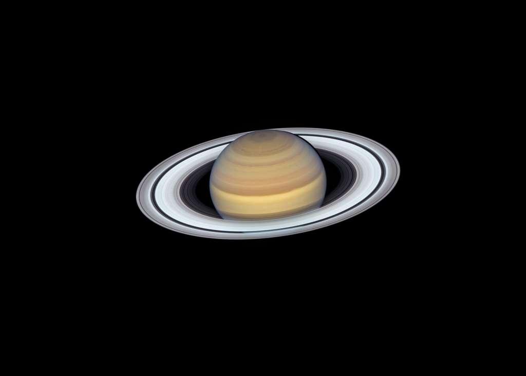 La dernière vue de Saturne du télescope spatial Hubble de la Nasa capture des détails exquis de ses anneaux. © Nasa, ESA, A. Simon, M.H. Wong and the OPAL Team