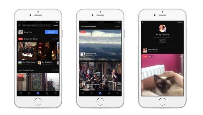 La vidéo en direct est devenue un enjeu majeur pour Facebook qui subit la concurrence de Periscope. Les membres du réseau social peuvent désormais diffuser en direct leurs vidéos. © Facebook