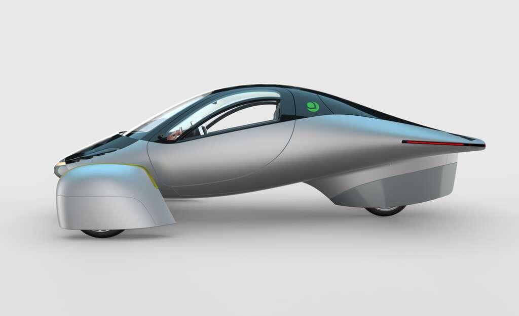 L'Aptera, première voiture solaire à l'autonomie quasi illimitée. © Aptera Motors