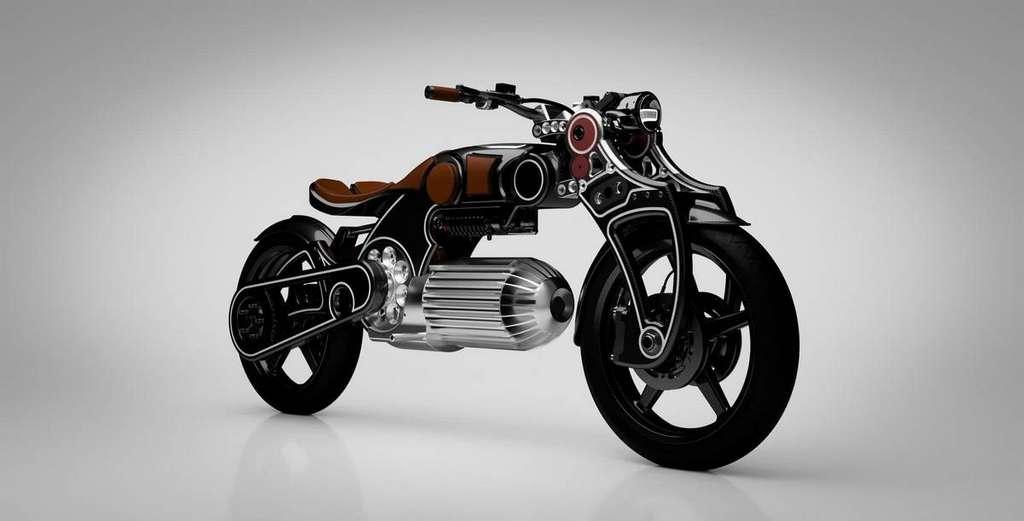 La batterie 399 volts de la Hades se cache dans cette superbe ogive usinée. © Curtiss Motorcycles