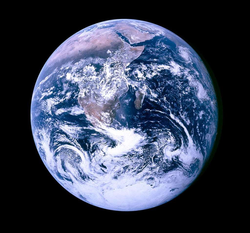 Image iconique de la Terre surnommée « Blue marble ». © Nasa