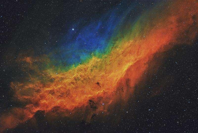 Il aura fallu longues sept nuits au photographe pour obtenir cette image de la nébuleuse California. © Terry Hancock, Astronomy Photagrapher of the Year 2021