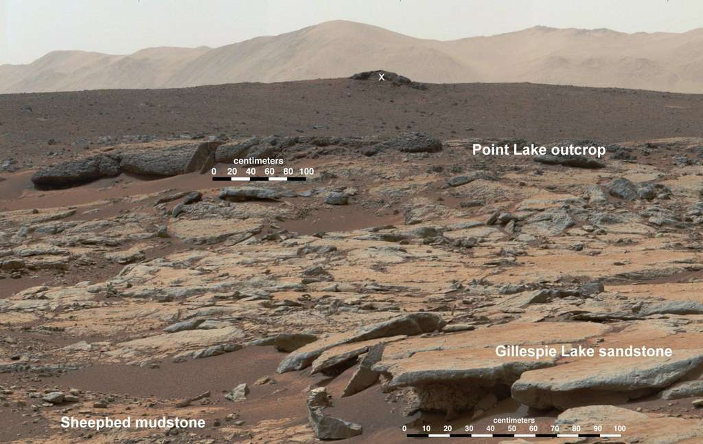 Curiosity dans un lac asséché