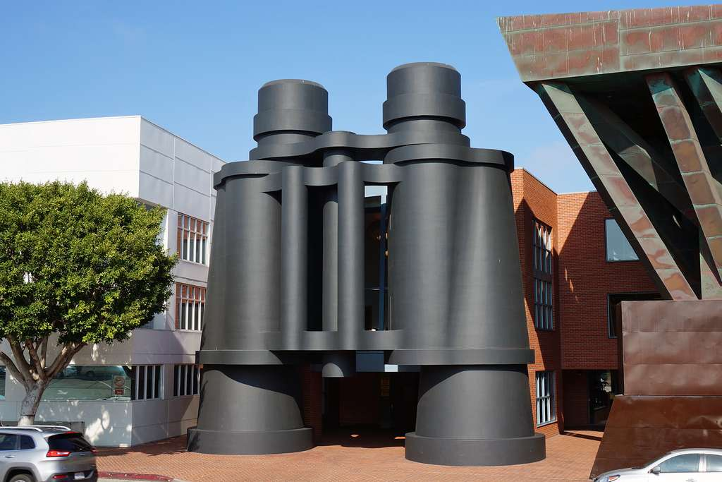 La sculpture « jumelles » à Los Angeles. © Steve Boland, Flickr