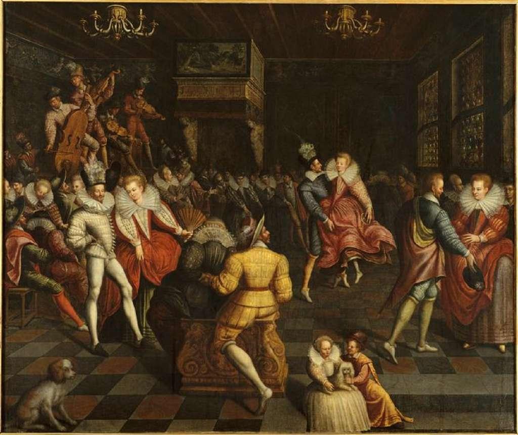 Bal à la Cour d'Henri III vers 1580, anonyme français. Musée des Beaux-Arts de Rennes. © MBA, Rennes