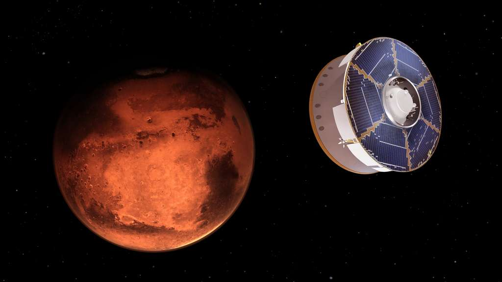 Le vaisseau transportant le rover Perseverance arrive en vue de Mars ! Nous somme alors le 18 février 2021. © Nasa, JPL-Caltech