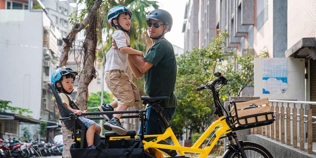 Tern propose de nombreux accessoires pour transporter des passagers ou du fret. © Tern Bicycles
