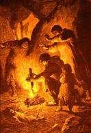 L'invention du feu telle qu'on l'imaginait au XIXe siècle © Figuier, 1870
