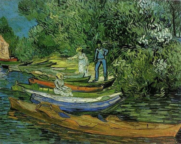 Sur les rives de l'Oise à Auvers, de Vincent Van Gogh. Le peintre a composé des dizaines de toiles à Auvers-sur-Oise à la fin de sa vie. © DP