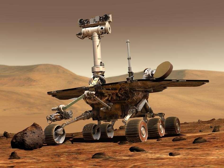 Spirit ou Opportunity ? Les jumeaux du programme Mars Exploration Rover ont commencé à arpenter la Planète rouge il y a 8 ans. © Nasa/JPL/Cornell University