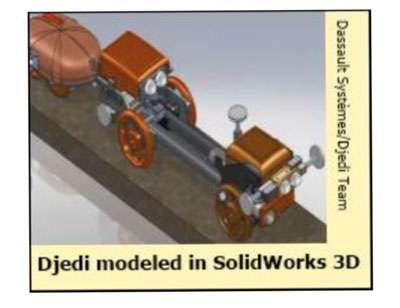 Une image de synthèse du robot Djedi. © Djedi Team, Dassault Systèmes
