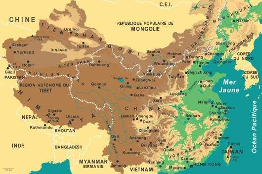 Carte de la Chine. © DR