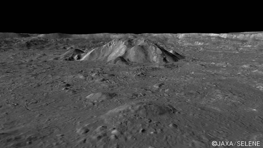 Autour du pic central du cratère Tycho