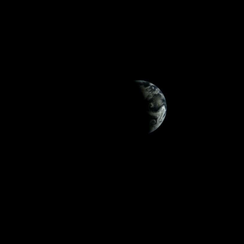 La Terre photographiée depuis la surface lunaire par Chang'e 3 le 24 décembre à 18 h 15 TU. © Chinese Academy of Sciences
