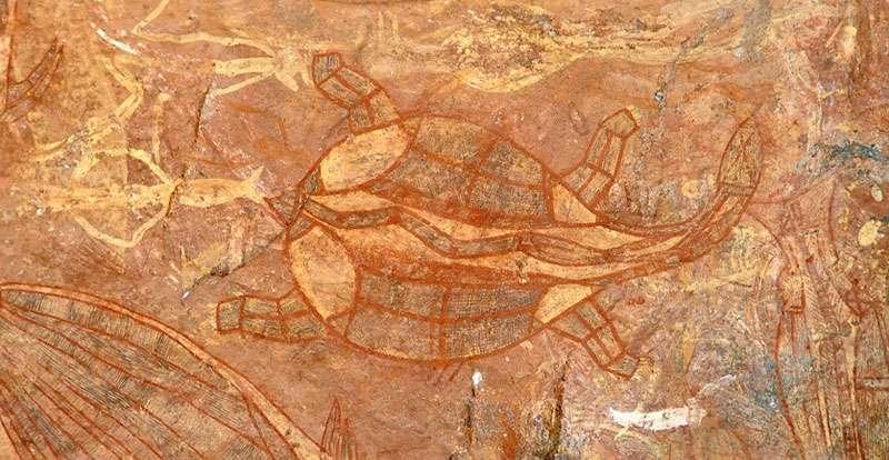 Fresque représentant une tortue. © Mosmas Wikimedia commons, CC by-sa 3.0
