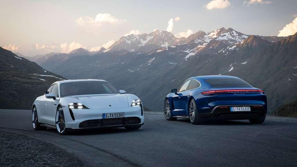 D'extérieur, rien ne différencie un modèle thermique d'un modèle 100 % électrique. © Porsche