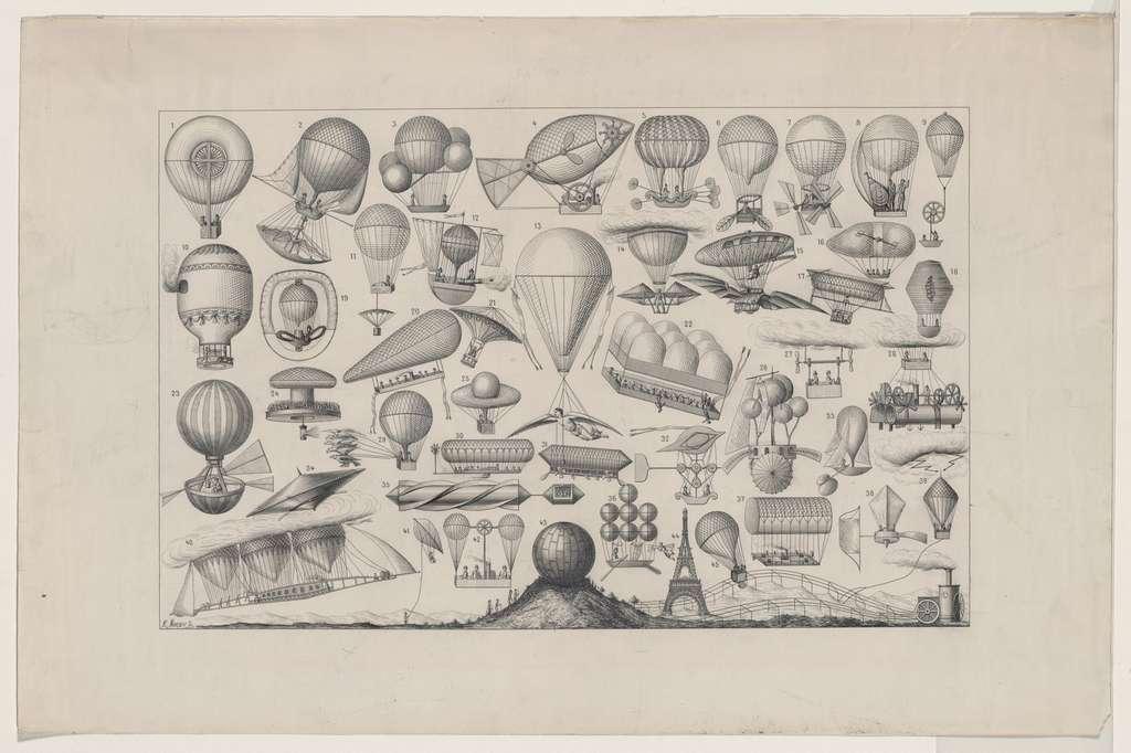 Les machines volantes : Charles Guillé et Thilorier