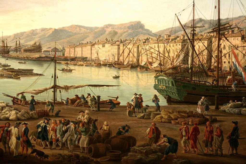 Vue du port de Toulon par Joseph Vernet en 1755, dans la série « Vue des ports de France ». Musée national de la Marine, Toulon. © Wikimedia Commons, domaine public
