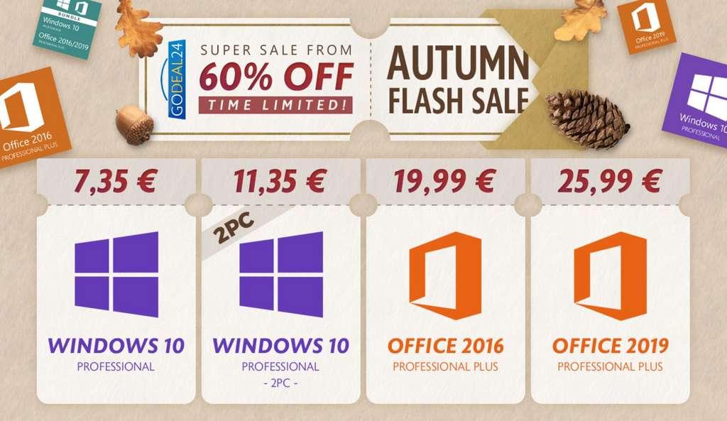 Windows 10, Office 2016, Office 2019... Les ventes flash d'octobre sont là !