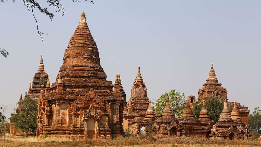 Une pagode proche d'Htilominlo. © Antoine, tous droits réservés, reproduction interdite.