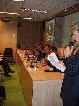 Ouverture de la conférence de presse consacrée à Huygens et Mars Express (Crédits : Christophe Olry/Futura-Sciences)
