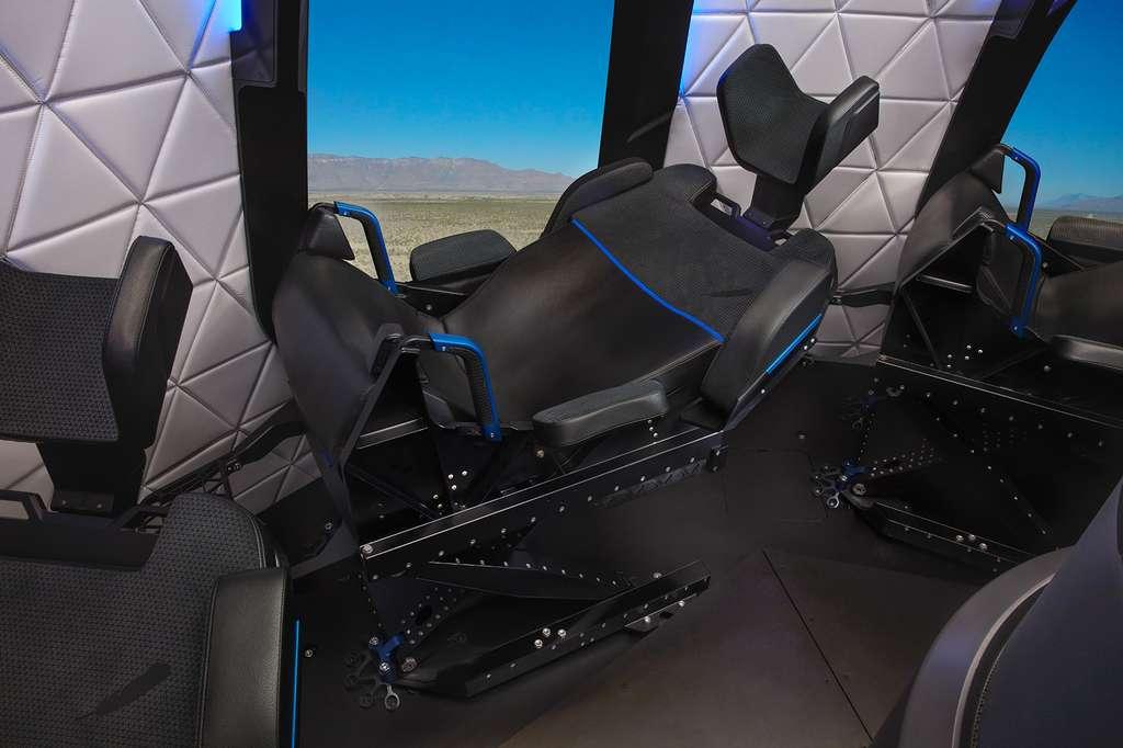 Souhaitons que Blue Origin fasse cadeau du siège sur lequel le vainqueur de l'enchère sera assis lors de ce vol qui promet quelques minutes d'apesanteur et une brève incursion dans l'espace. © Blue Origin