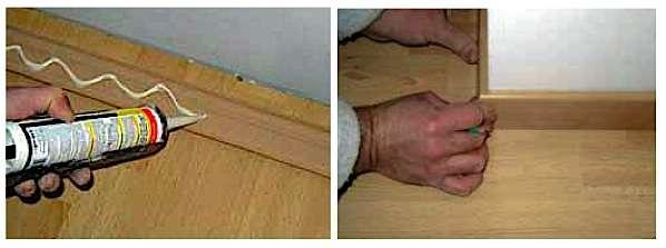 Dernière étape : la fixation des plinthes. © oliwood.it