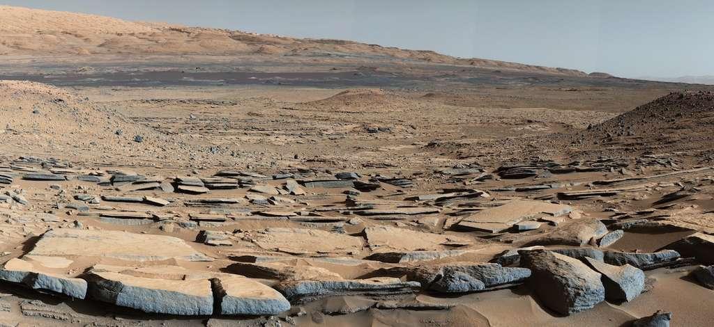 Le site de Kimberley, sur Mars, au pied du mont Sharp, photographié par Curiosity lors de son 580e jour sur Mars. © Nasa, JPL-Caltech, MSSS