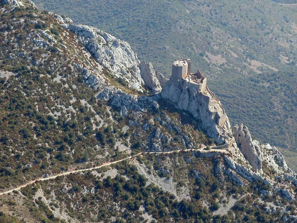 Le château de Quéribus, à Cucugnan, dans les Pyrénées-Orientales
