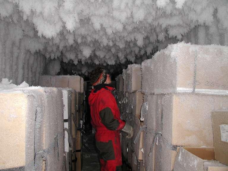 Stockage et archivage des carottes de glace