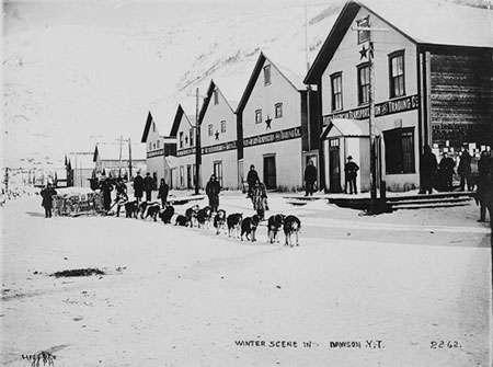 Dawson 1899, approvisionnement de nourriture.